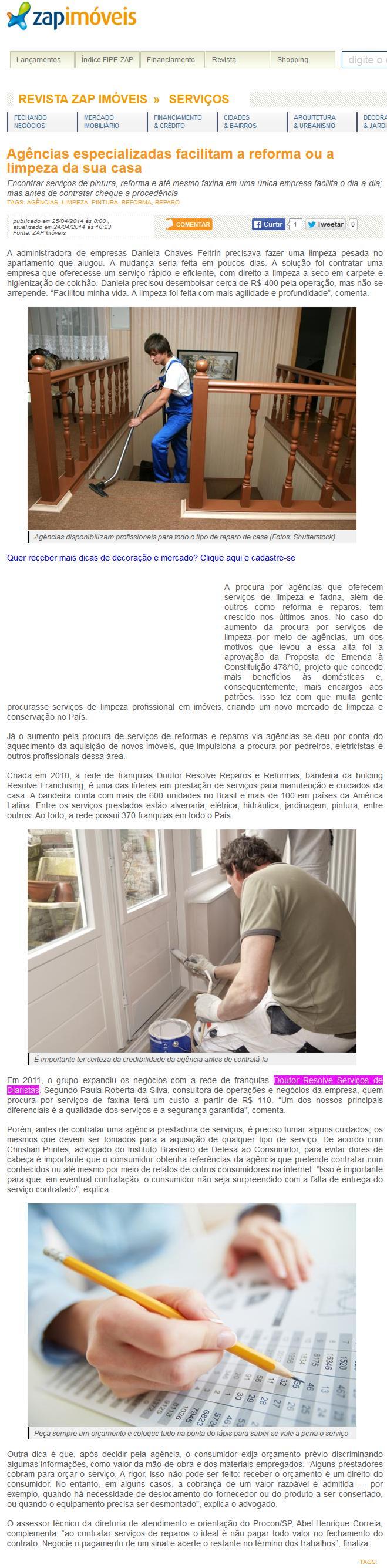 Agências especializadas facilitam a reforma ou a limpeza  da sua casa