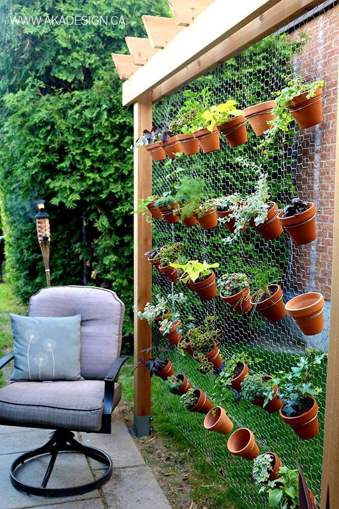 jardim com arame