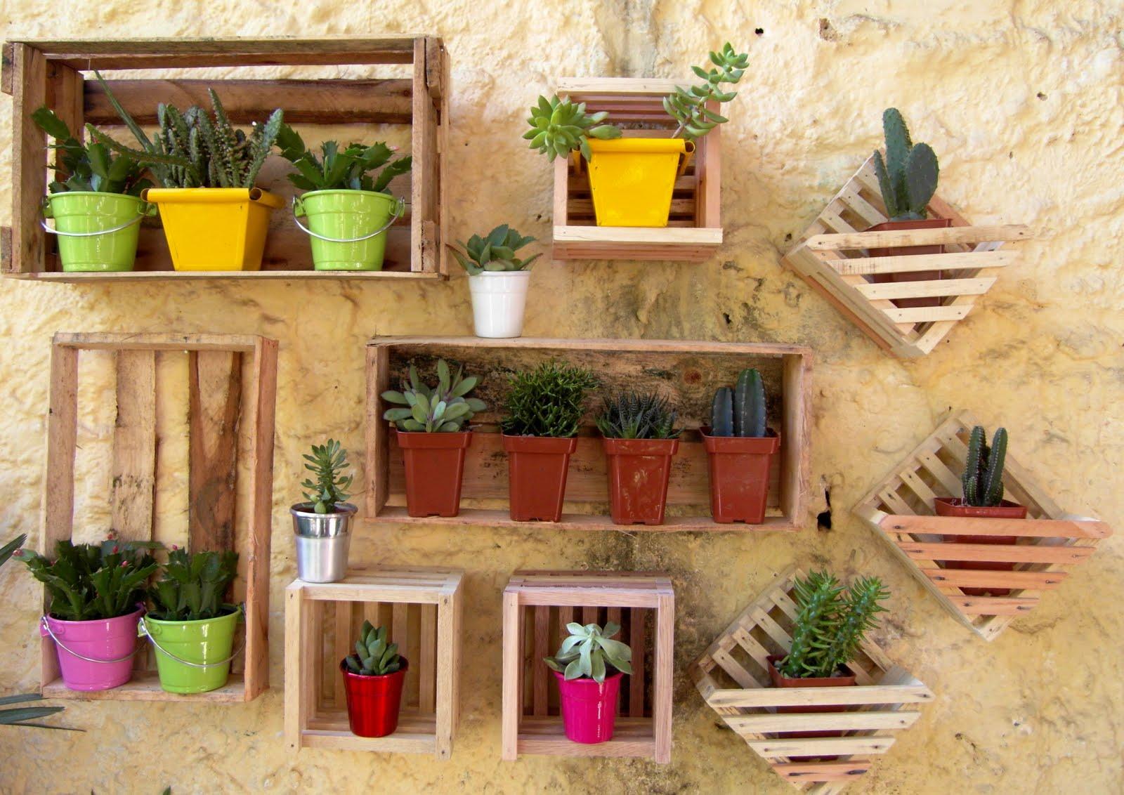 jardim com caixote