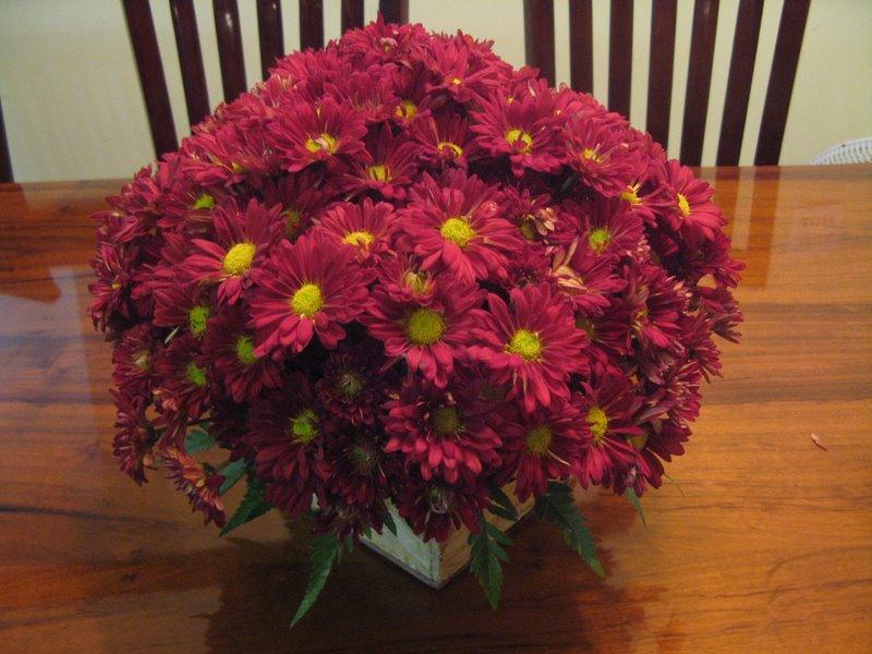 arranjo de mesa - Crisantemos