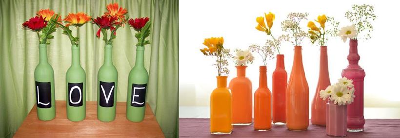 como pintar garrafas