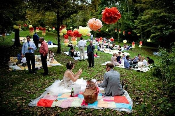convidados com picnic