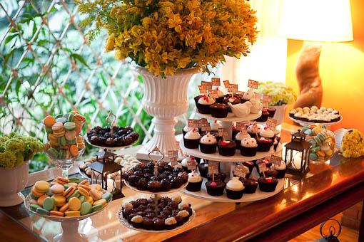 mesa de doces em casa