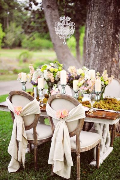 mesa dos noivos no campo