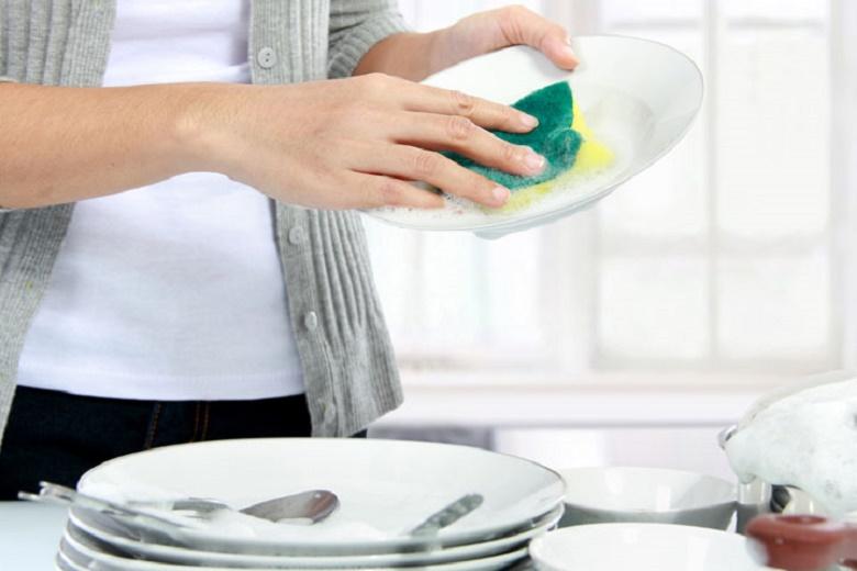 Higienização de esponja de lavar louças