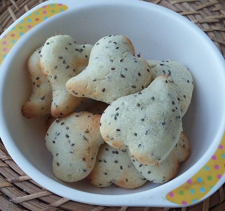 Receita de pãozinho de batata doce e chia para as crianças